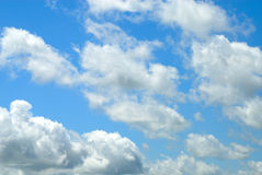 Summer sky clouds. The a day after the storm Royalty Free Stock Photos