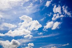 Summer sky with clouds Royalty Free Stock Photography