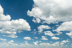 Summer sky with clouds Royalty Free Stock Images