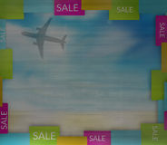 Summer Sky colorfully border sale Stock Image