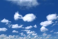 Summer sky with cumulus clouds Royalty Free Stock Images
