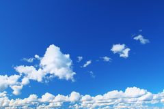 Summer sky with cumulus clouds Royalty Free Stock Photos
