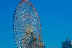 Summer sky and Ferris wheel royalty free stock images