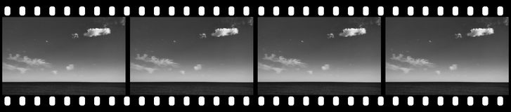 Summer Sky. Filmstrip Background Suitable for Custom Text and Images Royalty Free Stock Photography