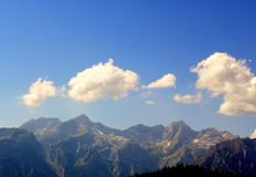 Summer sky in mountains Royalty Free Stock Photos