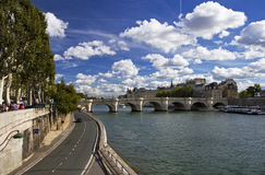 Summer sky in Paris Royalty Free Stock Images