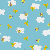 Summer sky. Pattern Royalty Free Stock Photography