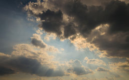 Cloud. Summer sky with storm clouds stock images