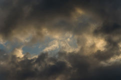 Summer sky with storm clouds. stock images