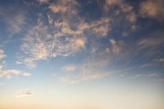 Summer sky. Sunlit clouds in summer sky Royalty Free Stock Photos