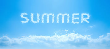Summer sky text Stock Photography