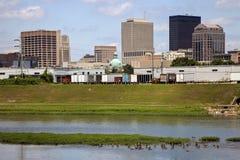 Summer skyline of Dayton, Ohio. Summer skyline of Dayton. Dayton, Ohio, USA stock photos