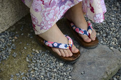 Summer slippers Royalty Free Stock Photo