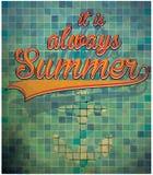 Summer slogans hand drawn calligraphy. Summer holidays and beach Royalty Free Stock Photo