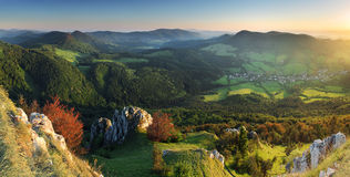 Summer in Slovakia mountain Fatras Stock Photo
