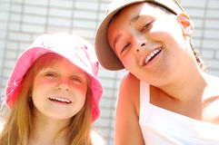 Summer smiling kids Royalty Free Stock Photo