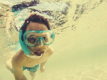 Summer snorkeling Stock Photo