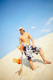 Summer snowboarder Royalty Free Stock Photography