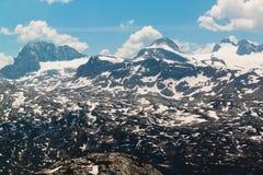 Summer snowy landscape of a mountain plateau Dachstein Krippenstein, Austria Stock Photography