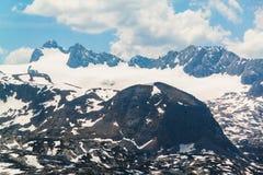 Summer snowy landscape of a mountain plateau Dachstein Krippenstein, Austria Stock Photos