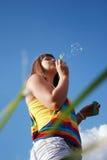 Summer soap bubbles Stock Photo