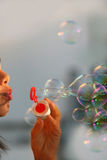 Summer soap bubbles Royalty Free Stock Photography