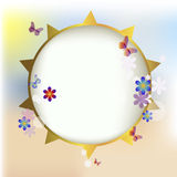 Summer solar frame Royalty Free Stock Image