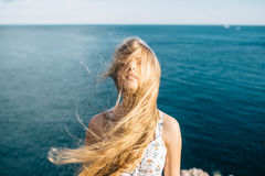 Summer solar vacation. In the Crimea Royalty Free Stock Images