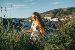Summer solar vacation. In the Crimea Stock Photos