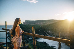 Summer solar vacation. In the Crimea Royalty Free Stock Photography