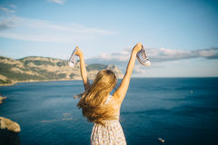 Summer solar vacation. In the Crimea Stock Images