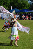 Summer Solstice Aboriginal Arts Festival. Native woman performs a traditional dance in Summer Solstice Aboriginal Arts Festival for Aboriginal Day in Massey Park Royalty Free Stock Photos