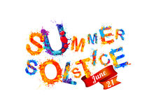 Summer solstice. June 21. Royalty Free Stock Images
