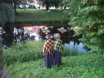Summer solstice in Latvia. Midsummer solstice celebration in Latvia Stock Image
