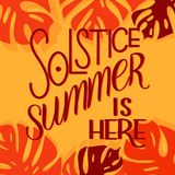 Summer solstice lettering. Elements for invitations, posters, greeting cards Royalty Free Stock Photography