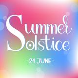 Summer solstice lettering. Elements for invitations, posters, greeting cards Stock Photo