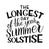 Summer solstice lettering. Elements for invitations, posters, greeting cards Royalty Free Stock Images