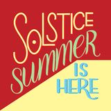 Summer solstice lettering. Elements for invitations, posters, greeting cards Stock Photography