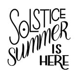 Summer solstice lettering. Elements for invitations, posters, greeting cards Stock Images