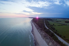 Summer solstice morning by baltic sea. Stock Photo