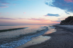 Summer solstice morning by baltic sea. Royalty Free Stock Photography