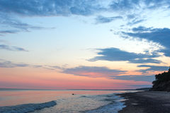 Summer solstice morning by baltic sea. Royalty Free Stock Image