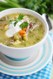 Summer soup with peas Stock Image