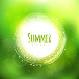 Summer space background with circle label Stock Photography