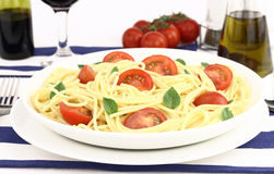 Summer spaghetti Royalty Free Stock Images