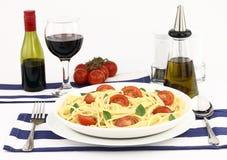 Summer spaghetti Stock Photo