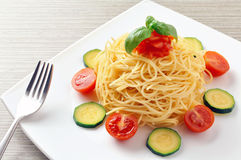 Summer spaghetti Royalty Free Stock Photos