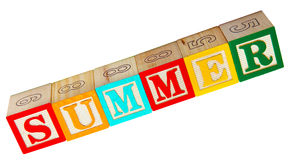 Summer Spelled In Blocks Stock Images