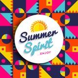 Summer spirit enjoy vacation on color background Stock Image
