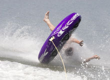 Summer splash. Teen having some fun in the summer heat stock photography